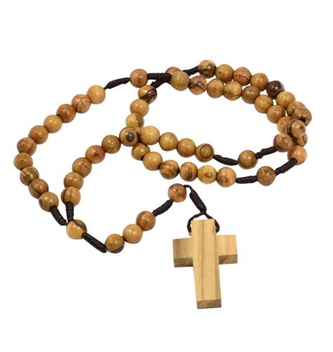 rosary bead jewelry christian amulets olive wood rosary and cross