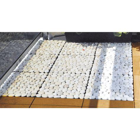 lot de 4 dalles galet blanc dalle de terrasse