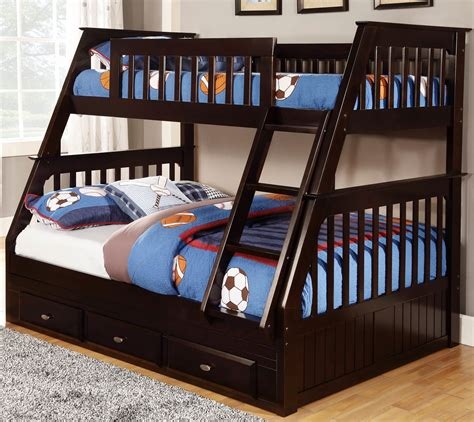 how for bunk beds discovery world furniture espresso mission