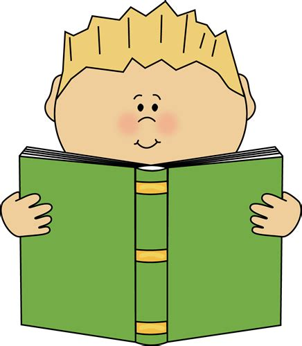 clipart picture of a book reading clip reading images