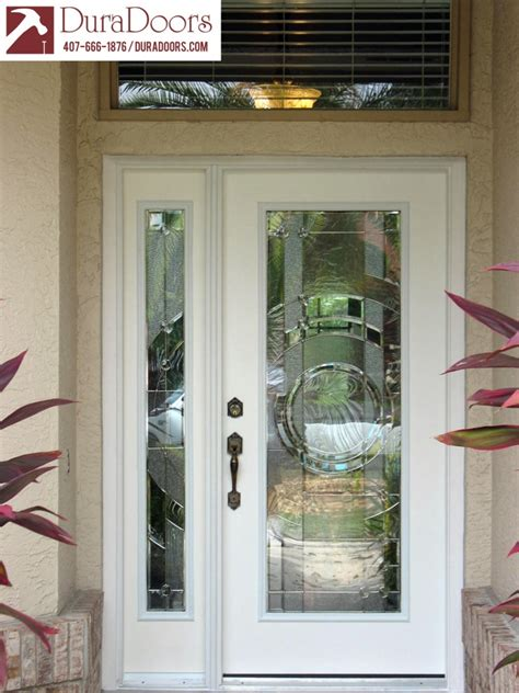 door sidelight glass plastpro entry door and sidelight with entropy glass by