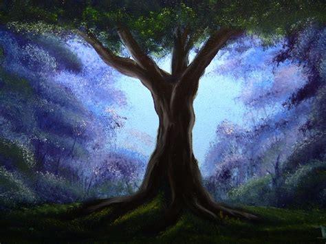 bob ross painting an evergreen tree bob ross style the oak tree
