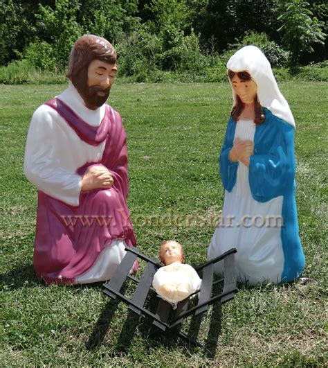 outdoor holy family set outdoor lighted nativity holy family set lighted