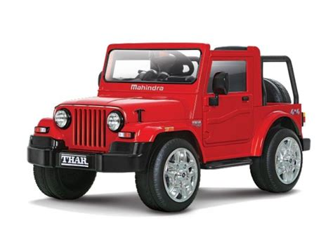 Battery Operated Automobiles by Mahindra Thar Ride On Battery Operated Kiddie With Remote