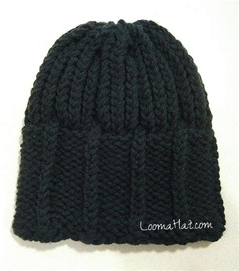 how to knit hat loom knit mens hat loomahat