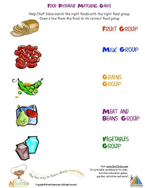 free printable for groups printable activities and worksheets about nutrition and