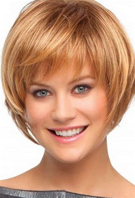 layered bob hairstyles for 50s short layered bob hairstyle with bangs