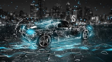 3d Hd Car Wallpapers 1080p 1920x1080 Water Wallpaper water drops splash beautiful car creative design