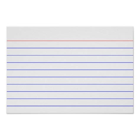 4x6 index card template word
