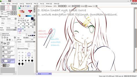 paint tool sai tidak ada curve tutorial paint tool sai tutorial mewarnai anime di paint