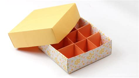 origami packaging origami 9 section box divider version paper kawaii