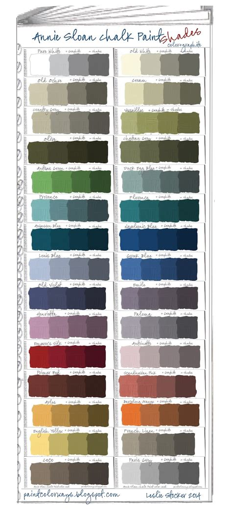 chalk paint mixed colors colorways sloan chalk paint swatch book part 2 shades