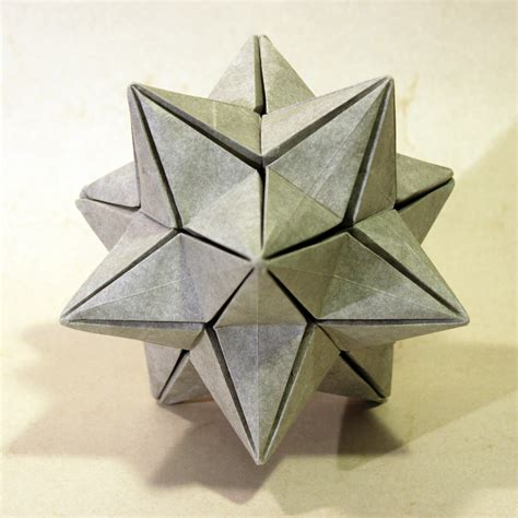 dodecahedron origami origami stellated dodecahedron tutorial origami handmade