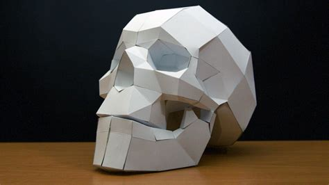 paper craft free papercraft skull timelapse