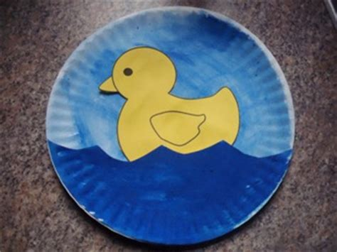 paper plate duck craft learning duck paper plate