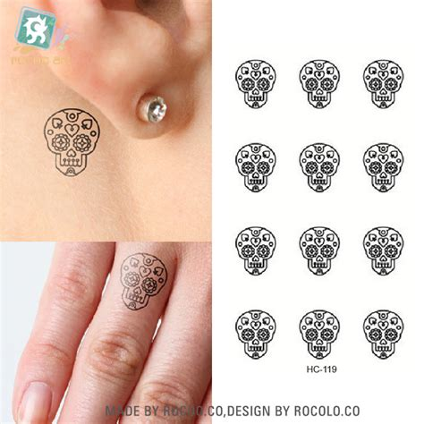 popular small skull tattoos buy cheap small skull tattoos