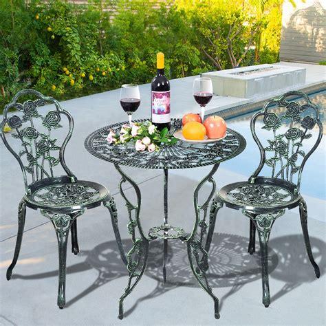 bistro set patio furniture patio furniture cast aluminum design bistro set