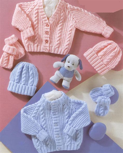 free knitting patterns cardigans uk knitting pattern baby cable cardigans hats mitts in dk