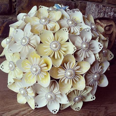 origami flower wedding best 25 paper flower bouquets ideas on paper