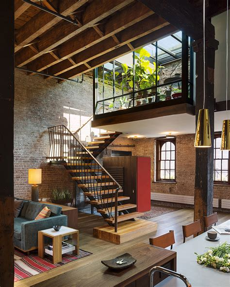 Home Decor Trends 2015 old warehouse turned into a loft with interior court and
