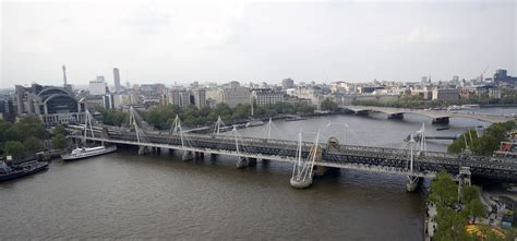 hungerford bridge the hungerford and golden jubilee bridges as seen from the