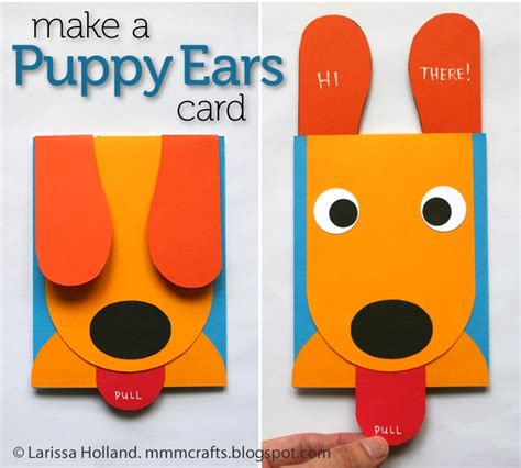 make a card mmmcrafts make a puppy ears card craft c