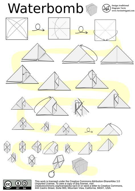 origami water bomb pdf origami peace dove tavin s origami