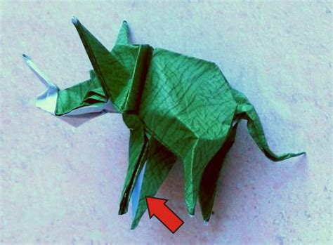triceratops origami joost langeveld origami page