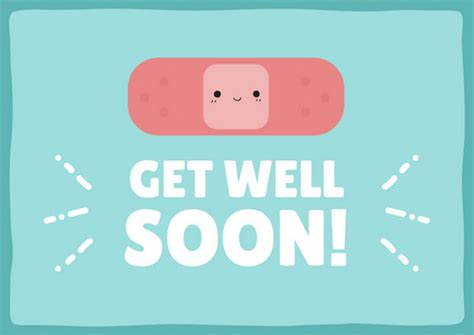 make your own get well soon card bandaid get well soon card templates by canva