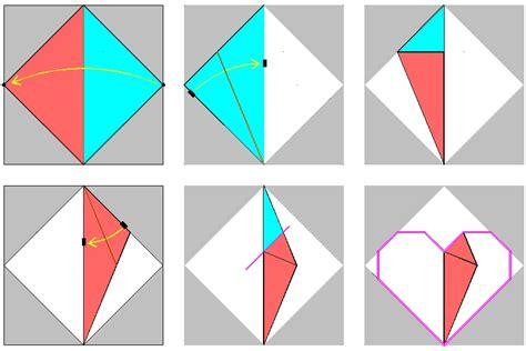 origami process 1 folding process