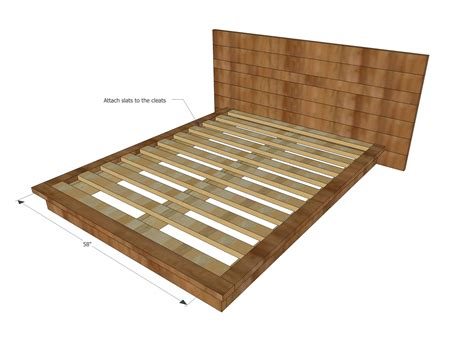 rustic bed frame plans white rustic modern 2x6 platform bed diy projects