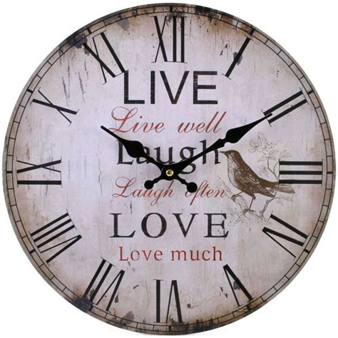 shabby chic large wall clocks large vintage rustic wall clocks shabby chic kitchen home