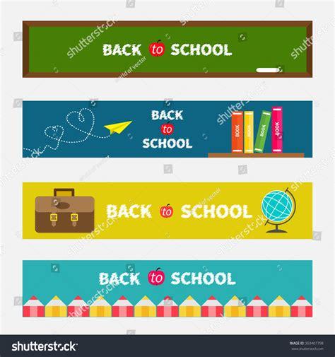 back to school origami back to school banner set green board world globe book