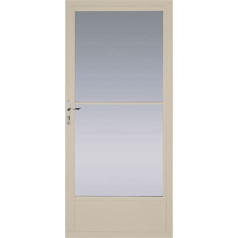 shop pella tan mid view tempered glass retractable screen