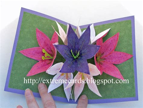 how to make a pop up card flower seven flower amazing pop up card many exles of
