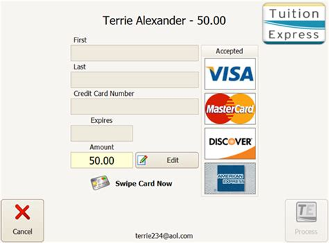 how to make credit card payment by cheque make payment at check in procare support