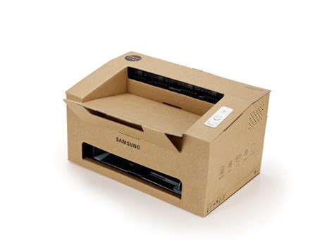 origami printer samsung eco conscious origami cardboard mono laser printer