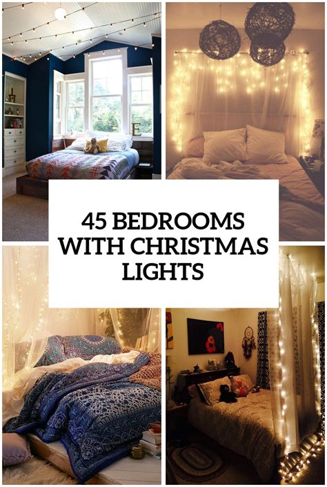 how to hang decorations 45 ideas to hang lights in a bedroom shelterness