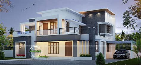 contemporary home design plans wonderful contemporary inspired kerala home design plans