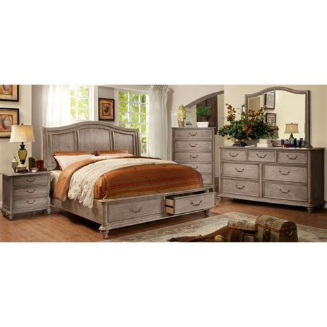 4 bedroom furniture sets furniture of america bartrand 4 king bedroom set