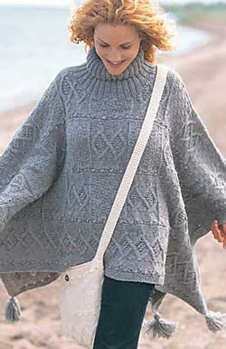 free poncho knitting patterns adults free pattern blanket poncho by patons crafts