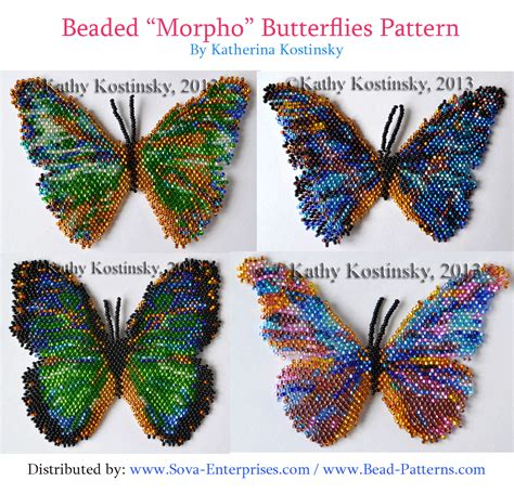 Beaded Quot Morpho Quot Butterfly Patterns Seed Bead Jewelry