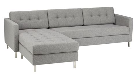 grey sectional sofas ditto ii button tufted sectional sofa cb2