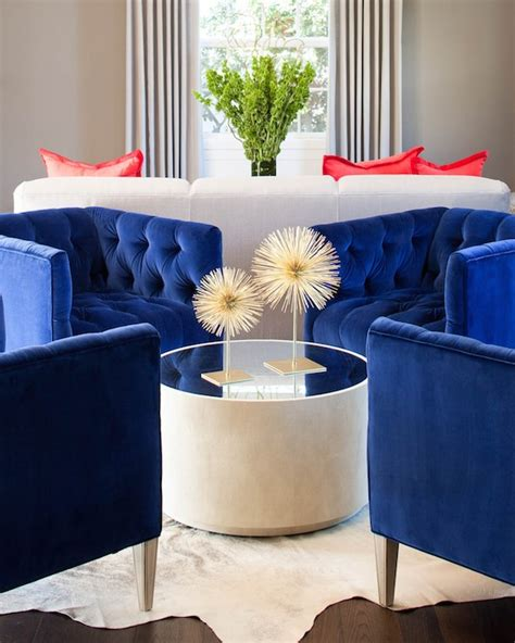 blue chairs for living room royal blue design ideas
