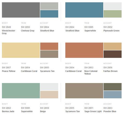 modern paint colors 1950s exterior paint colors