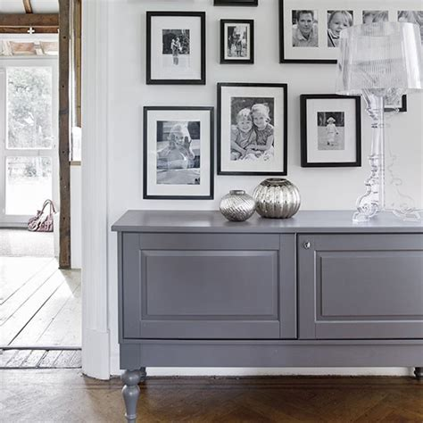 White Cottage Bedroom Furniture simple white hallway with grey sideboard decorating