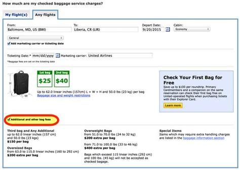 united airlines baggage international united airlines checked baggage fee international flights