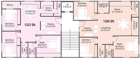 flat floor plans overview affordable deluxe flats at defence colony