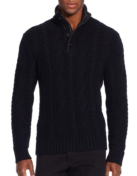 black cable knit sweater polo ralph cable knit merino wool sweater in black