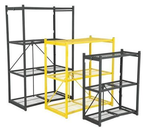 origami shelves folding shelving garage shelving steel origami shelving
